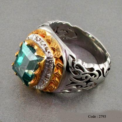 42 Topase vert Diamant carré 2793